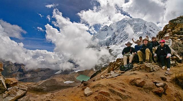 16,230 ft Ridge at Salkantay