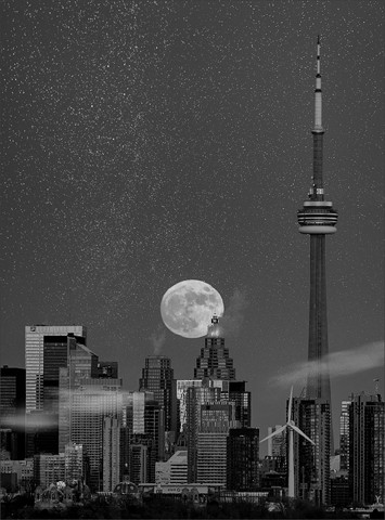 Toronto Moonrise  Dec 2013