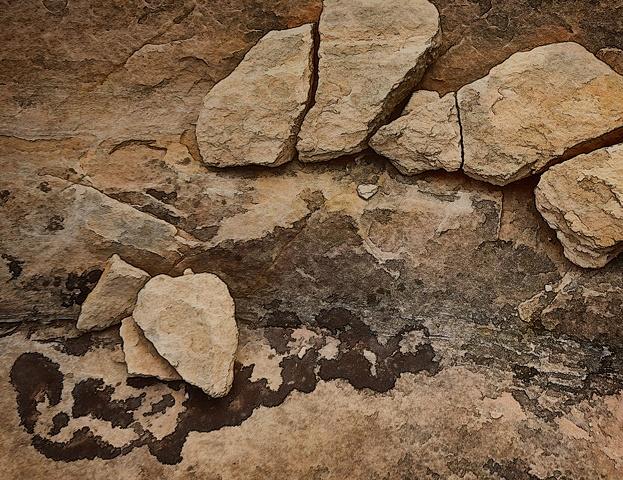 Fallen Rock with Moss