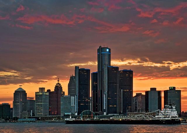 Detroit Skyline  June 2013