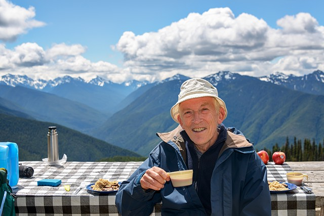 Steak Lunch with a Spectacular View up the Elwha Valley  June 2019