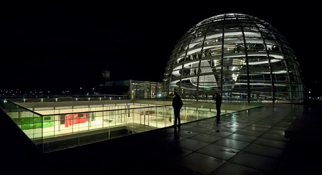Reichstag Dome from the Roof  November 2012