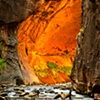 Golden Narrows Virgin River at Sunset Zion National Park, UT  Oct 2009