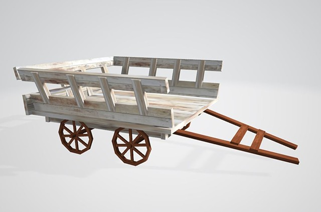Flower Cart_3D Modeling
