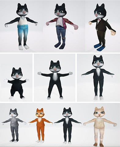 Cat Models for the Game_Project Mimicus
