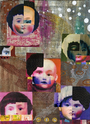 My 100th day / 2008 /Digital printed images,collage,painting / 11 x 15 (inches)