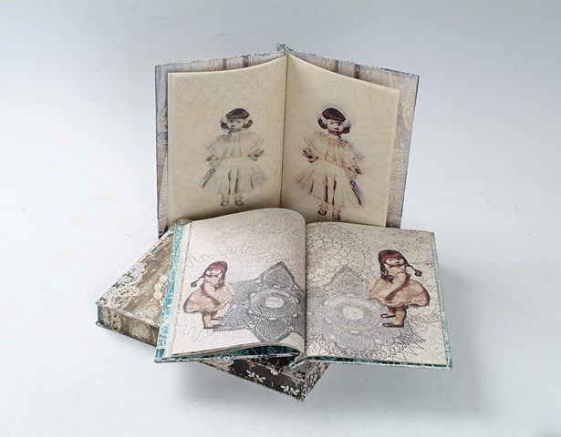 Tansparent & Translucent / 2008 / Bookmaking ,digital printed images,collage / 7 3/4 x 11 1/8 x 1/2 (inches)