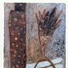 White shadow / 2003 / painting,sewing / 5 x 7 (inches)