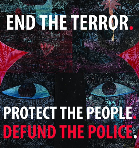 Black Lives Matter Toronto Poster Defund the Police