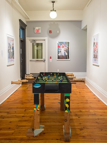 The taca taca feminists foosball babyfoot table
