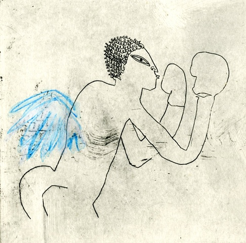 Self-portrait as a boxing angel
