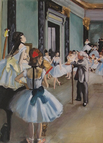 Rendition of Degas's The Dancing Class
