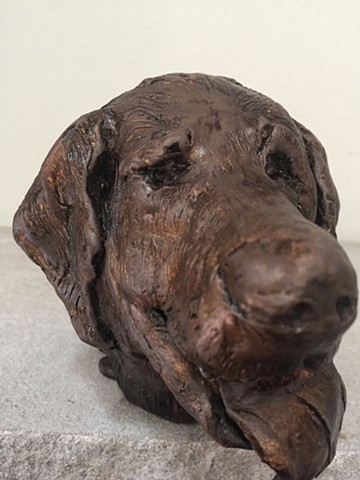 Buddy , golden retriever, dog, bronze, small, sculpture, animal, collectible, art, gift