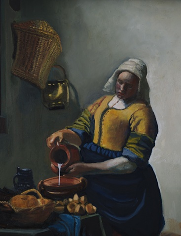 Rendition of Vermeer's The Milkmaid
