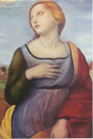 Rendition of St. Catherine by Raphael