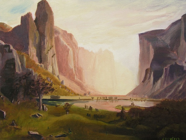 Rendition of Bierstadt