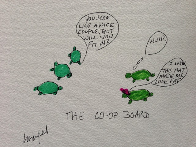Green turtles interview for a co-op