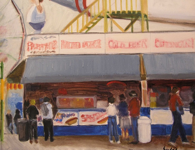 Painting of Coney Island Big Boy in New York City