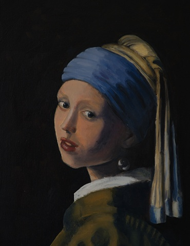 Rendition of Vermeer's Girl with Pearl Earring