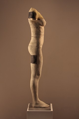 Figurative bauxite sculpture by Dan Corbin. Available at the CK Contemporary Gallery in San Francisco.