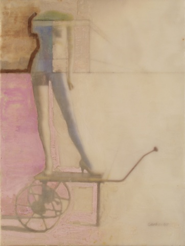 Pink Ryder, Encaustic, 18 x 24 inches