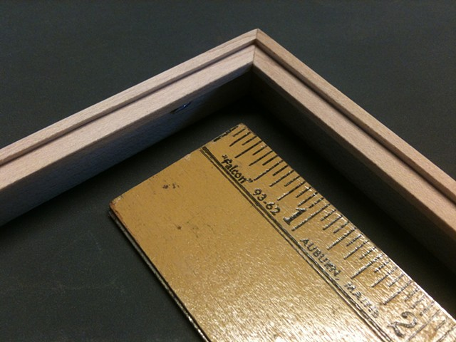 thin maple picture frame profile hand made in Maine custom picture frame