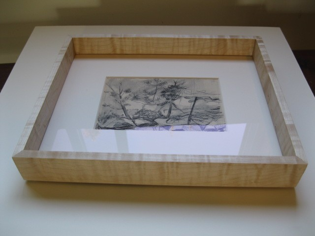 custom made picture frame for graphite work Made in Maine