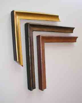 custom made in Maine picture frames in gilded finishes