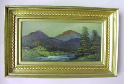gold leaf gilded picture frame for a White Mountain School painting