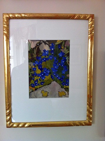 hand-carved and gilded American Impressionist frame Made in Maine