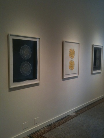 recent project framing work for artist installation at Aucocisco Gallery in Portland, Maine