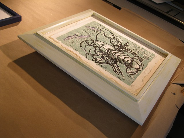 modernist picture frame design in white hand made in Maine