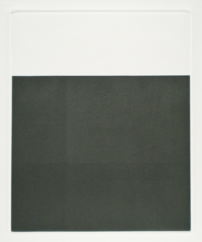 black and white minimal architectural aquatint by Robin Sherin