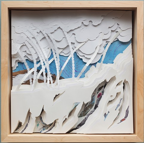 topographies, geology, science, cut paper