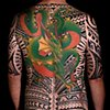 ISLAND TATTOO STYLE BLACK-WORK WITH A SPLASH OF COLOR