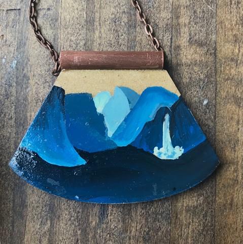 Yosemite Handpainted Necklace