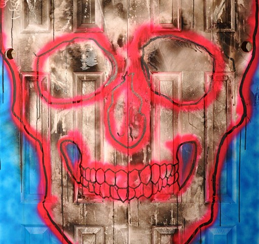 A Skull, Some Color & Two Doors Trying to Hide Something That Shouldn't Be Seen