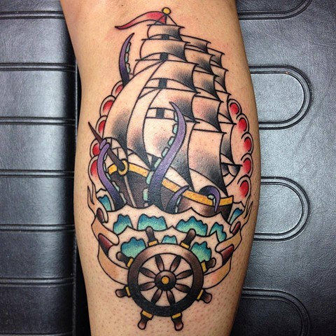 ship and wheel