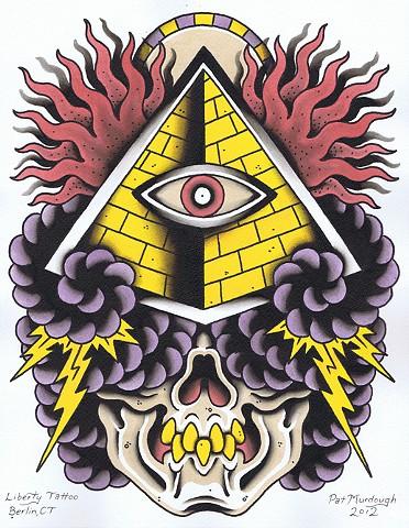 pyramid skull