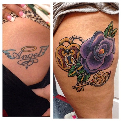 Cover Up - Rose, Heart locket, Key