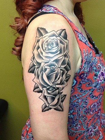 black and grey roses