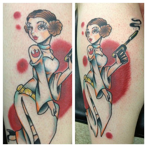 Princess Leia Pin Up