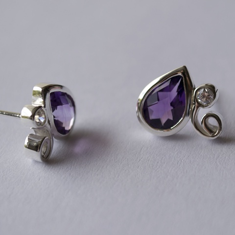 Amatista en Gota Drop of Amethyst