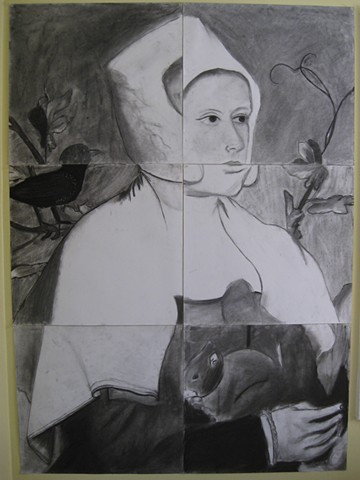 Intro to Studio  Ages 13-18 Collaborative Hans Holbein Drawing