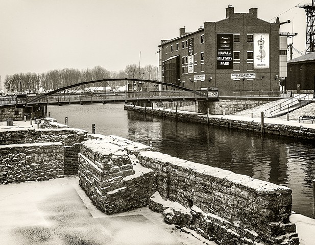 Canalside Commercial Slip, Ruins, Whipple Bridge, Buffalo, NY