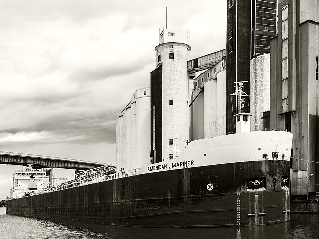 American Mariner lake freighter, General Mills, Buffalo, NY