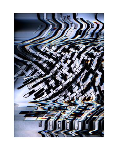 Glitch Barcode Weave III