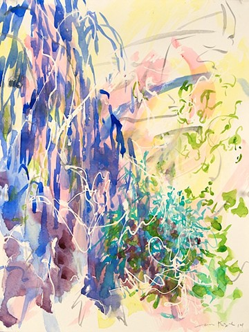 Watercolor landscape Abstraction