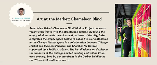 Chicago Market INTERVIEW-Chameleon Blind-Uptown
