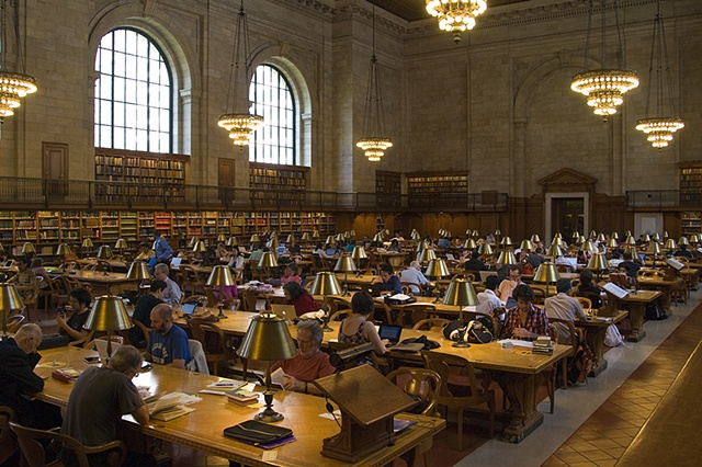 Reading Room, NYC Public Library